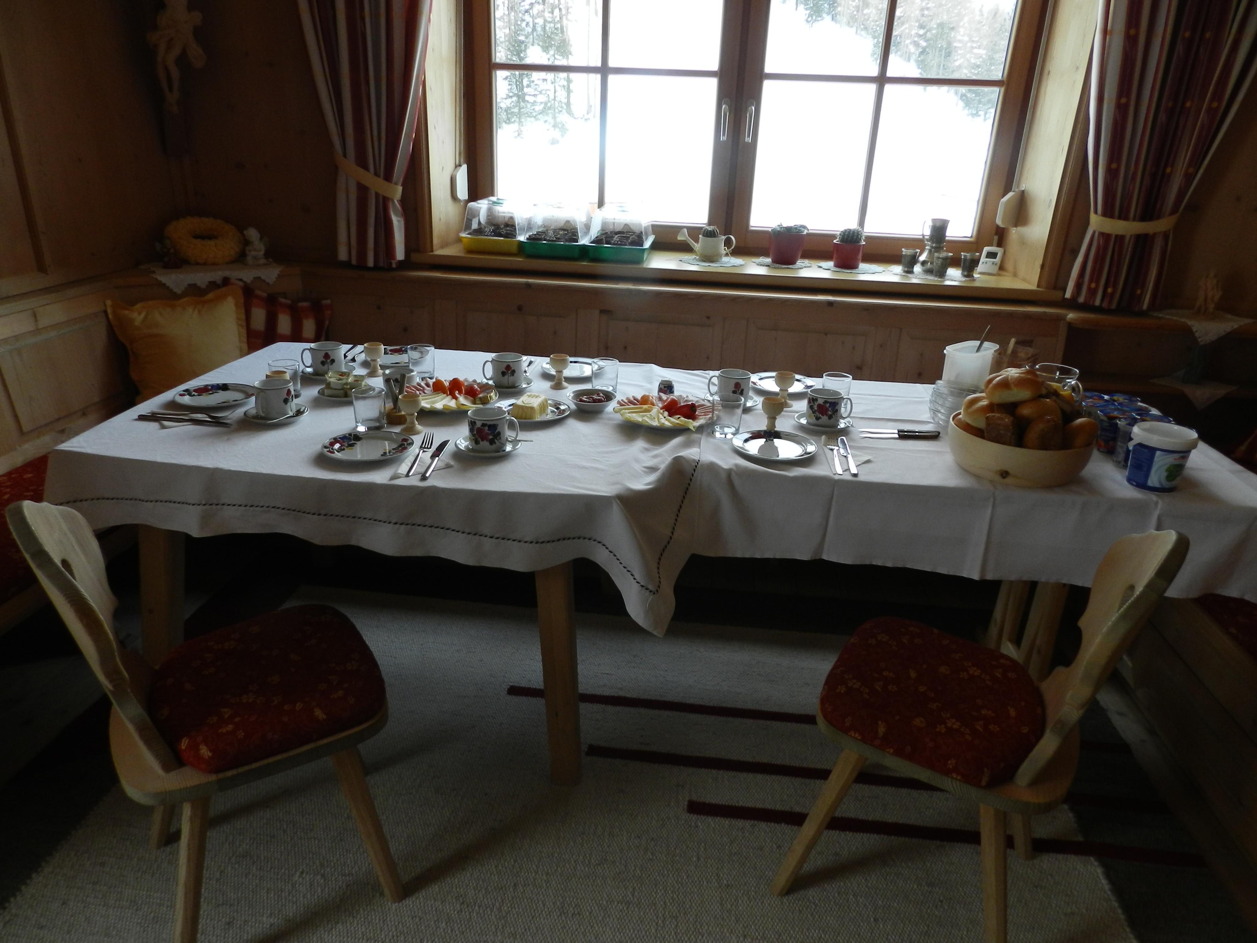 Frühstückstisch mit regienalen Produkten